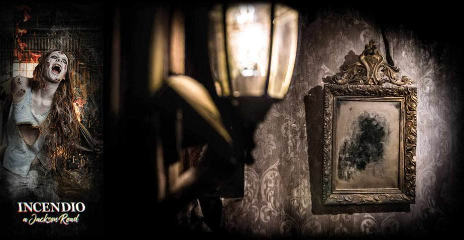 specchio decorato horror scenografia escape room