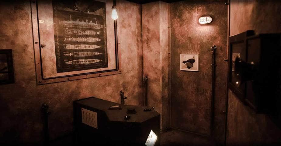 sala macchine arrugginita scenografia escape room
