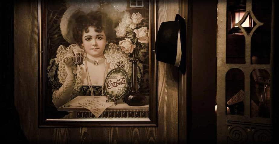 quadro coca cola vintage scenografia escape room