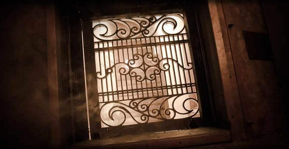 griglia pantografata scenografia escape room