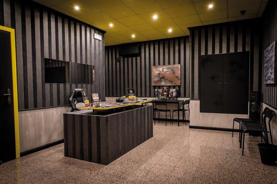 reception studio enigma modena escape room