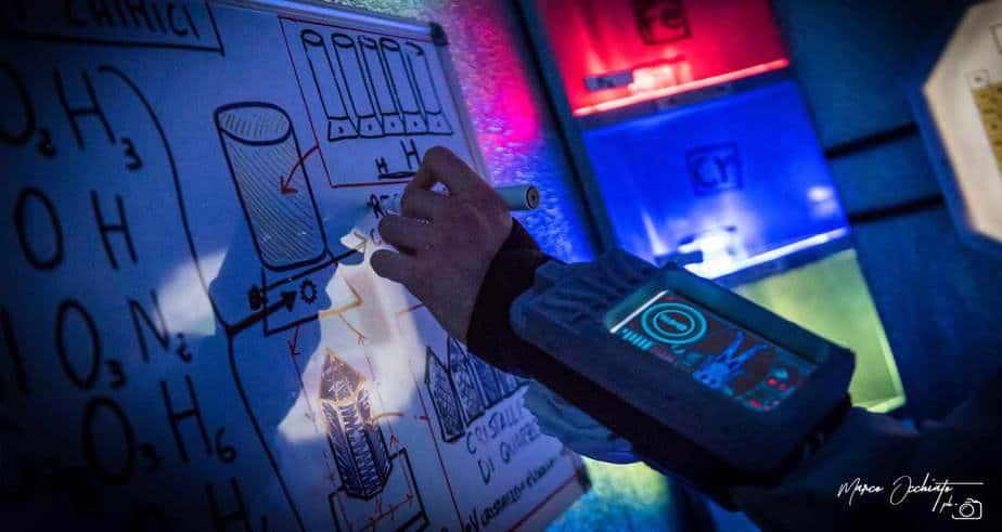 bracciale con schermo scenografia escape room